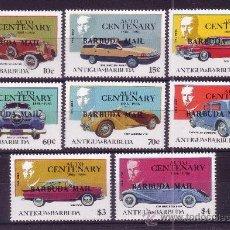 Sellos: BARBUDA 852/59*** - AÑO 1987 - CENTENARIO DEL AUTOMÓVIL. Lote 23939089