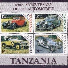 Sellos: TANZANIA HB 42*** - AÑO 1986 - CENTENARIO DEL AUTOMOVIL. Lote 25056190