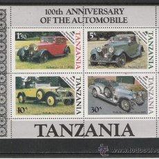Sellos: TEMA COCHES HOJITA DE TANZANIA . Lote 14453667