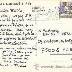 Sellos: SUIZA, CINTURÓN DE SEGURIDAD COLOCADO INCLUSO PARA 100 METROS, RODILLO DEL 26-9-1980. Lote 18350128