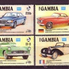 Sellos: GAMBIA 594/97*** - AÑO 1986 - EXPOSICIÓN FILATÉLICA AMERIPEX EN CHICAGO - CENTENARIO DEL AUTOMÓVIL. Lote 23152879