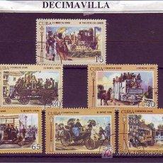 Sellos - TRANSPORTES, CUBA, COCHES, 2008, L138, SERIE COMPLETA USADA - 19940349