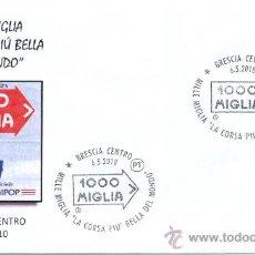 Sellos: ITALIA 2010. MATASELLO ESPECIAL. 1000 MILLAS DE AUTOMOVILISMO. BRESCIA.. Lote 20697456