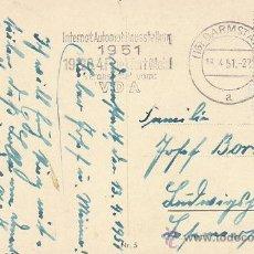 Sellos: ALEMANIA, SALÓN INTERNACIONAL DEL AUTOMOVIL 1951, MATASELLO DEL 13-4-1951. Lote 28438347