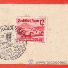 Sellos: ALEMANIA REICH IVERT 628, SALÓN INT. AUTOMOVIL EN BERLIN (UNION DE MERCEDES), PRIMER DIA 17-2-1939. Lote 30525732
