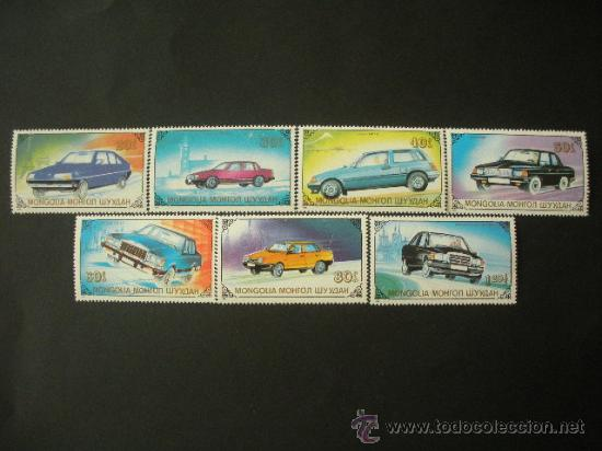 MONGOLIA 1989 IVERT 1673/9 *** MEDIOS DE TRANSPORTE - AUTOMOVILES - COCHES (Sellos - Temáticas - Automóviles)