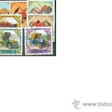 Sellos - Coches antiguos y Tractores.- Bonitos sellos de Mongolia - 32643900
