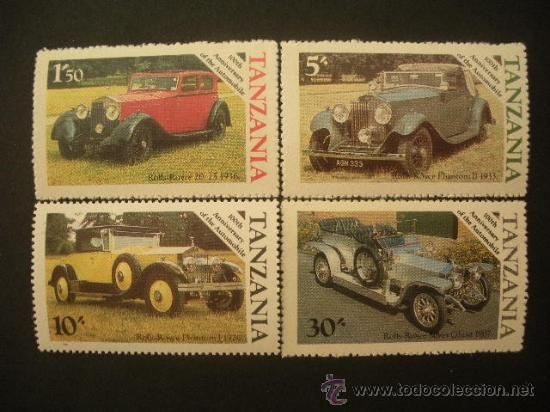 TANZANIA 1986 IVERT 267/70 *** CENTENARIO DEL AUTOMOVIL ROLL ROYCE - COCHES ANTIGUOS (Sellos - Temáticas - Automóviles)