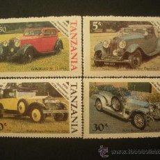 Sellos: TANZANIA 1986 IVERT 267/70 *** CENTENARIO DEL AUTOMOVIL ROLL ROYCE - COCHES ANTIGUOS. Lote 32321861