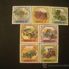 Sellos: MONGOLIA 1980 IVERT 1081/7 *** COCHES ANTIGUOS - RETROSPECTIVA DEL AUTOMOVIL. Lote 32322262