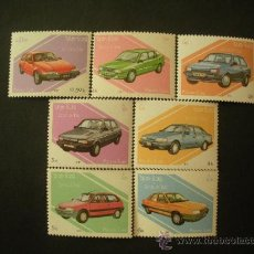 Sellos: LAOS 1987 IVERT 784/90 *** AUTOMOVILES FORD - COCHES. Lote 33408357