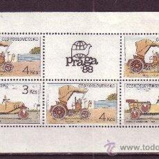 Sellos: CHECOSLOVAQUIA 2760/61 HB*** - AÑO 1988 - AUTOMOVILES HISTORICOS CHECOSLOVACOS. Lote 33442476