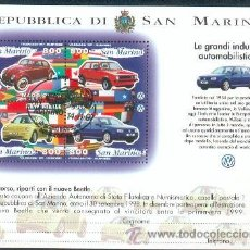 Sellos: SAN MARINO & INDUSTRIA AUTOMÓVEL . Lote 35919092