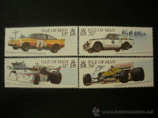 ISLA DE MAN 1988 IVERT 363/6 *** COCHES DE RALLYS Y CARRERAS - DEPORTES - AUTOMOVILES (Sellos - Temáticas - Automóviles)