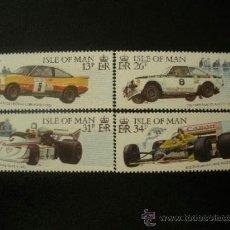 Sellos: ISLA DE MAN 1988 IVERT 363/6 *** COCHES DE RALLYS Y CARRERAS - DEPORTES - AUTOMOVILES. Lote 38502833