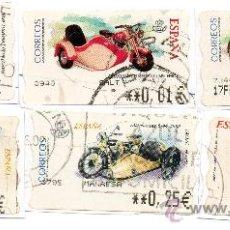 Sellos: LOTE DE 6 SELLOS ATMS DE MOTOS Y SIDECAR ANTIGUOS.. Lote 38814493