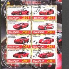 Sellos: RWANDA 2012 HOJA BLOQUE SELLOS - FERRARI- AUTO- CARS- AUTOMOVIL - COCHES. Lote 39659223