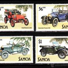Sellos: SAMOA 576/79** - AÑO 1985 - AUTOMOVILES ANTIGUOS. Lote 111559367