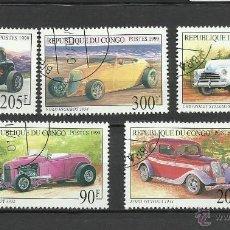 Sellos: CONGO 1999 - LOTE DE SELLOS - AUTOS CLASICOS ANTIGUOS - CARS- AUTOMOVIL - COCHES. Lote 40885280
