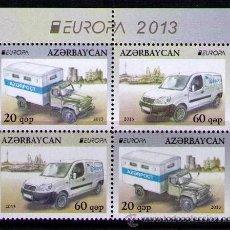 Sellos: AZERBAIJAN 2013 - AUTOMOVILES - 4 SELLOS DE CARNET. Lote 41289830