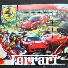 Sellos: MALAWI 2011 HOJA BLOQUE SELLOS AUTOS - FERRARI - AUTOMOVILES - CARS. Lote 194538570
