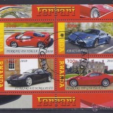 Sellos: RWANDA 2010 HOJA BLOQUE SELLOS AUTOS - FERRARI - AUTOMOVILES - CARS . Lote 42564206