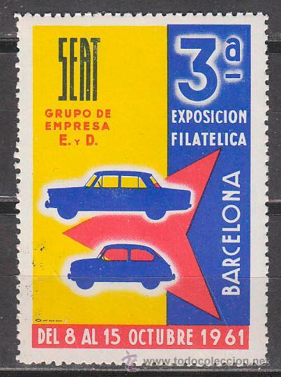 VIÑETA, 1961, 3ª EXPOSICION FILATELICA DE SEAT, NUEVA *** (Sellos - Temáticas - Automóviles)