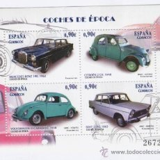 Sellos: COCHES DE EPOCA: MERCEDES-SEAT-VOLSKWAGEN-CITROEN. AÑO 2013. Lote 58383287