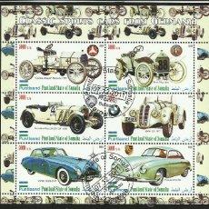 Sellos: SOMALIA 2010 HOJA BLOQUE SELLOS AUTOMOVILES CLASICOS DEPORTIVOS ANTIGUOS DE ALEMANIA- AUTOS- CARS. Lote 171423055
