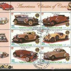 Sellos: SOMALIA 2010 HOJA BLOQUE SELLOS AUTOMOVILES CLASICOS DE EEUU- AUTOS CLASICOS- CARS. Lote 130956351