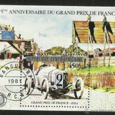Sellos: CENTROAFRICA 1981 HOJA BLOQUE CONM.75 ANIVERSARIO GRAND PRIX DE FRANCIA- CARRERA AUTOS- CARS. Lote 46786169