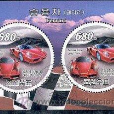 Sellos: COREA 2008 HOJA BLOQUE SELLOS REDONDOS AUTOS DEPORTIVOS- FERRARI- CARS- AUTOMOVIL. Lote 47284561