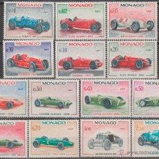 Sellos: MONACO IVERT 708/21, 25 GRAN PREMIO AUTOMOVILISTICO DE MONACO, COCHES DE LOS GANADORES, NUEVOS ***. Lote 47288766