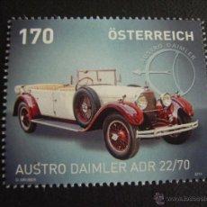 Sellos: AUSTRIA Nº YVERT 2944***AÑO 2014. AUTOMOVIL AUSTRO DAIMLER ADR 22/70. Lote 218544976