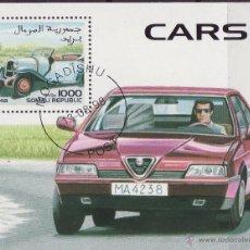 Sellos: REPUBLICA DE SOMALIA 1998 HOJA BLOQUE SELLOS AUTOMÓVILES - COCHES ALFA ROMEO- AUTOS- CARS. Lote 47730563