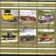 Sellos: GUINEA 2001 HOJA BLOQUE SELLOS TEMATICA AUTOS- COCHES ANTIGUOS- AUTOMOVILES- CARS. Lote 48154325