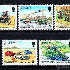 Sellos: JERSEY 217/21** - AÑO 1980 - 60º ANIVERSARIO DEL CLUB AUTOMOVILISTA Y MOTORISTA DE JERSEY. Lote 48374094