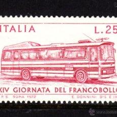 Sellos: ITALIA 1117** - AÑO 1972 - AUTOCAR POSTAL - DIA DEL SELLO. Lote 48473894