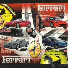 Timbres: TCHAD 2012 HOJA BLOQUE SELLOS AUTOMÓVILES MODERNOS-FERRARI- COCHES DEPORTIVOS- AUTOS- CARS . Lote 49009961