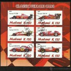 Sellos: MALAWI 2011 HOJA BLOQUE SELLOS FORMULA 1- FERRARI - AUTO CLASICOS DE CARRERA- CARS- AUTOMOVIL . Lote 130953935