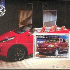 Sellos: BENIN 2003 HOJA BLOQUE DE SELLOS TEMATICA AUTOS- COCHES DEPORTIVOS- CARS- AUTO- TOYOTA. Lote 49323095