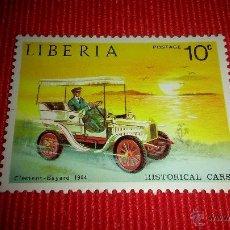 Sellos: SELLO DE LIBERIA. TEMATICA AUTOMOVILES. 10C. Lote 49492042