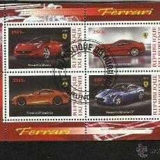Sellos: BURUNDI 2009 HOJA BLOQUE SELLOS AUTOMÓVILES MODERNOS-FERRARI- COCHES DEPORTIVOS- AUTOS- CARS. Lote 49867344