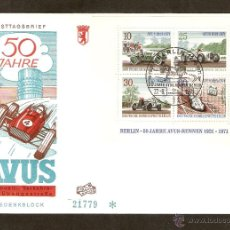 Sellos: ALEMANIA FEDERAL. FDC BERLIN-50 JAHRE AVUS-RENNEN 1921-1971.COCHES.. Lote 49948407