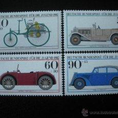 Sellos: ALEMANIA FEDERAL 1982 IVERT 955/8 *** VEHICULOS HISTORICOS DEL MUSEO DE BERLIN - COCHES . Lote 50236826