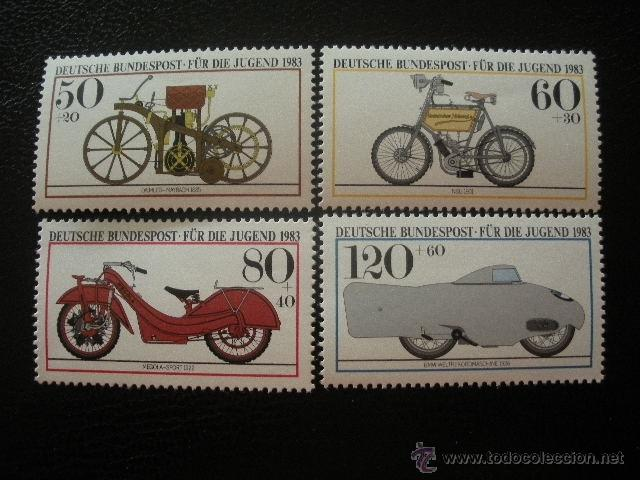 ALEMANIA FEDERAL 1983 IVERT 1000/3 *** PRO JUVENTUD - MOTICICLETAS HISTÓRICAS (Sellos - Temáticas - Automóviles)