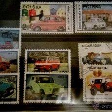 Sellos: LOTE SELLOS DE TEMATICA COCHES 1. Lote 50483187