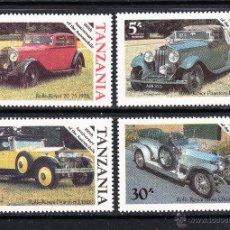 Sellos: TANZANIA 267/70** - AÑO 1986 - CENTENARIO DEL AUTOMOVIL - ROLLS ROYCE. Lote 111559350