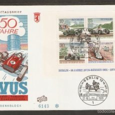 Sellos: ALEMANIA BERLIN .FDC 1971. HB. YT 3. COCHES.. Lote 57285186