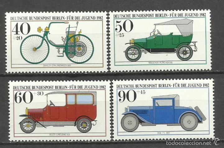 SELLO ALEMANIA 1982 TEMATICA AUTOMOVIL - COCHES HISTÓRICOS DEL MUSEO DE MUNICH (Sellos - Temáticas - Automóviles)